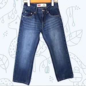 Levi's Boys 505 Straight Denim Blue Jeans 24x22